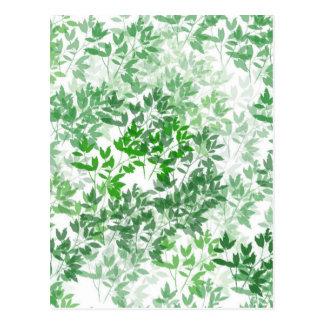 Leafy Pattern Design Postcard