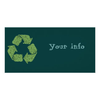 Leafy Recycle Symbol Card