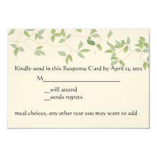 Leafy RSVP Card