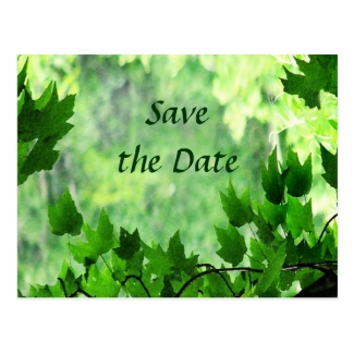 Leafy Save the Date Wedding