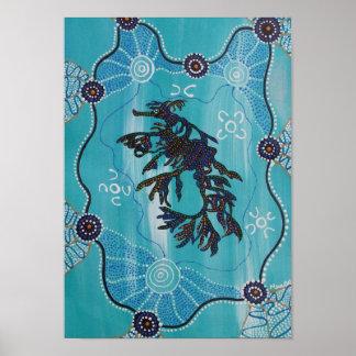 LEAFY SEA DRAGON Canvas print by Mundara