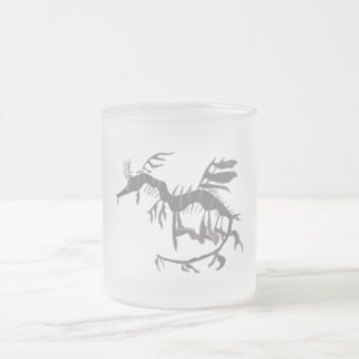 Leafy Sea Dragon Fossil Frosted Glass Coffee Mug