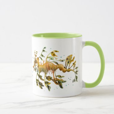 Coffee Themed Leafy Sea Dragon Seahorse Coffee Mug