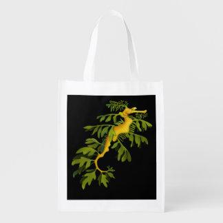 Leafy Sea Dragon Seahorse Grocery Bag