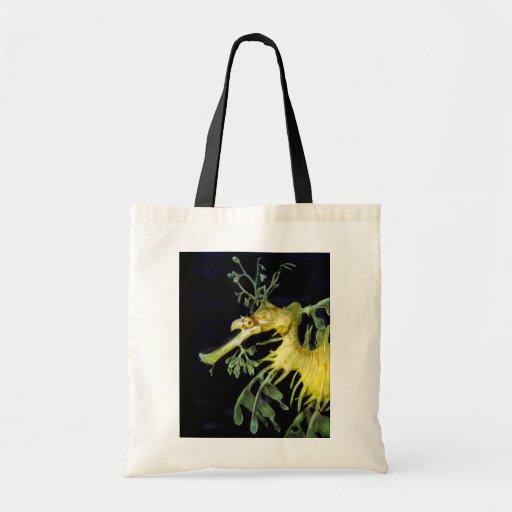 Leafy Sea Dragon Tote Bags