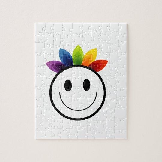 Leafy Smiley Jigsaw Puzzle