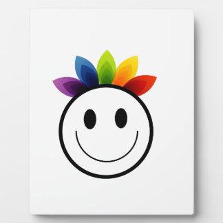 Leafy Smiley Plaque