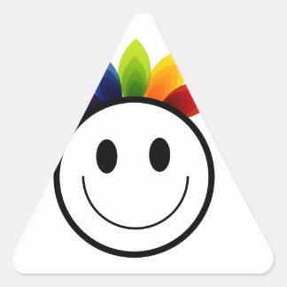 Leafy Smiley Triangle Stickers