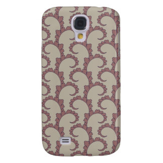 Leafy Swirls in Mauve Galaxy S4 Cover