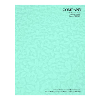 Leafy Undergrowth Texture - Pale Turquoise Letterhead