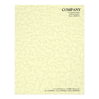 Leafy Undergrowth Texture - Pale Yellow Letterhead