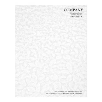 Leafy Undergrowth Texture - White to Gray Letterhead