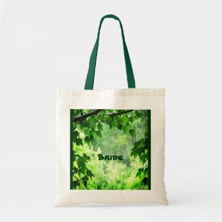 Leafy Wedding Bridal Tote Bag