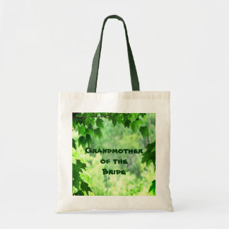 Leafy Wedding Grandmother of the Bride Budget Tote Bag