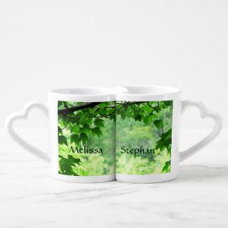 Leafy Wedding Lovers Mugs