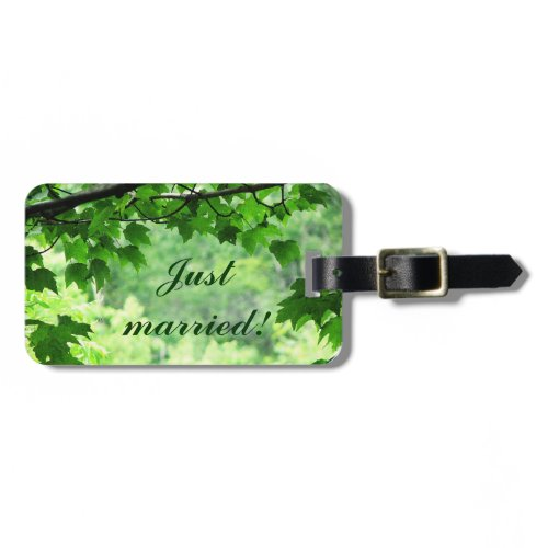 Leafy Wedding Luggage Tags