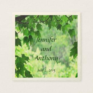 Leafy Wedding Napkins