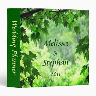 Leafy Wedding Planner Binder