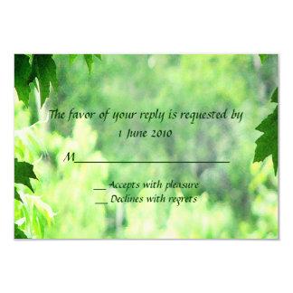 Leafy Wedding RSVP Card