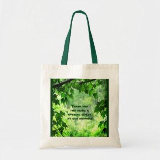 Leafy Wedding Thank You Favor Tote Bag