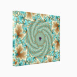 Leafy Whorls Fractal Canvas Print