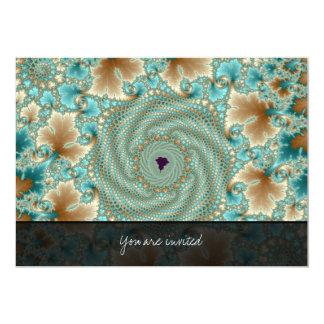 Leafy Whorls Fractal Card