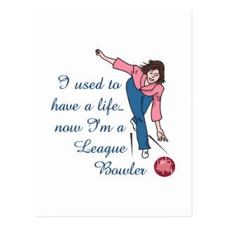 League Bowler Postcard