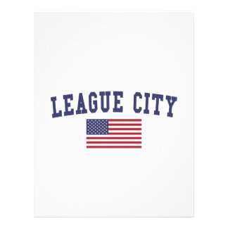 League City US Flag Letterhead