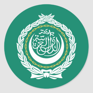 League of Arab States Flag Classic Round Sticker