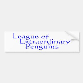League of Extraordinary Penguins 3 Car Bumper Sticker