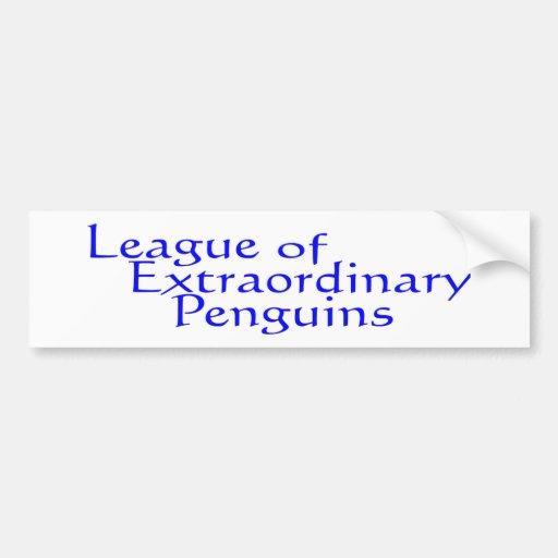 League of Extraordinary Penguins 3 Bumper Sticker