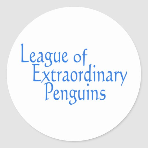 League of Extraordinary Penguins 3 Classic Round Sticker