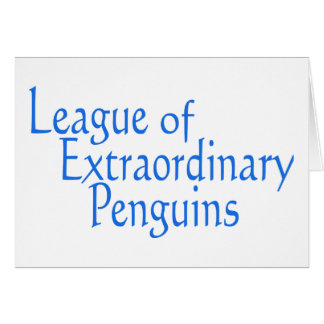 League of Extraordinary Penguins 3 Greeting Cards