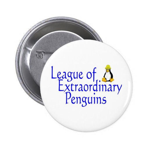 League of Extraordinary Penguins 4 2 Inch Round Button