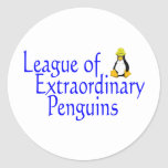 League of Extraordinary Penguins 4 Classic Round Sticker
