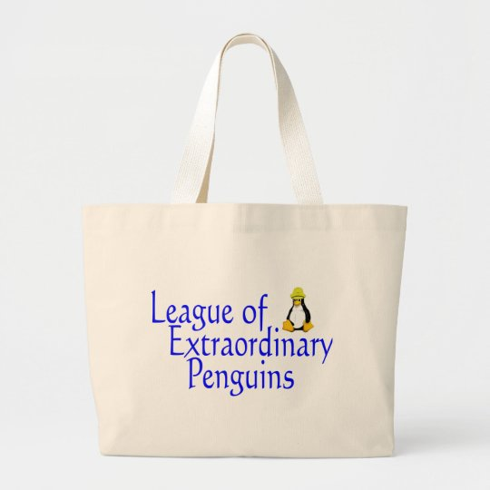 League of Extraordinary Penguins 4 Large Tote Bag