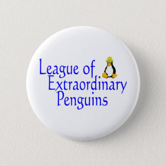 League of Extraordinary Penguins 4 Pinback Button