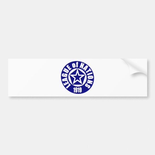 League of Nations Bumper Sticker