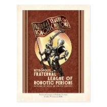 League of Robotic Persons Postcard