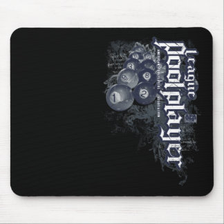 League Pool Player Mouse Pad