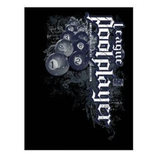 League Pool Player Postcard