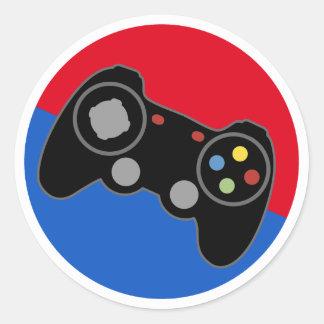 League Pro Gamer Classic Round Sticker