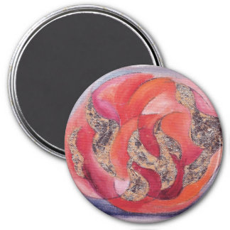 Leah 3 Inch Round Magnet
