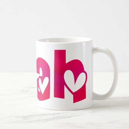 Leah in Hearts Classic White Coffee Mug