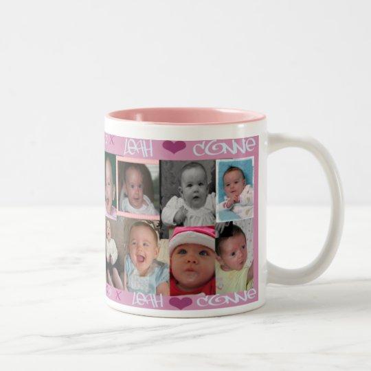 Leah Loves Connie Two-Tone Coffee Mug