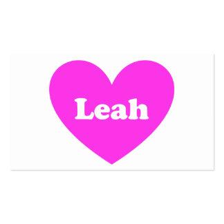 Leah Tarjetas De Visita