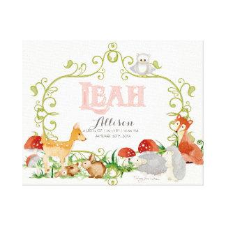 Leah Top 100 Baby Names Girls Newborn Nursery Canvas Print