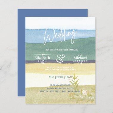 LeahG BUDGET Natures Dream Wedding Invite