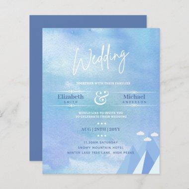 LeahG BUDGET Snowy Mountain Wedding Invite