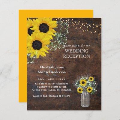 LeahG Budget Wedding RECEPTION Rustic Sunflowers